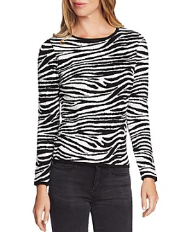 VINCE CAMUTO - Zebra Jacquard Knit Sweater - 100% Exclusive