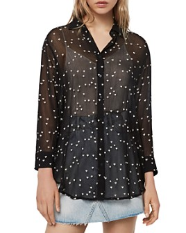 ALLSAINTS - Mariana Embroidered Hearts Blouse