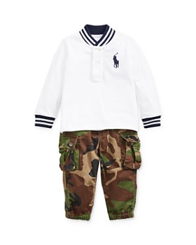 Ralph Lauren - Boys' Tiger Graphic Tee & Camo Pants Set - Baby