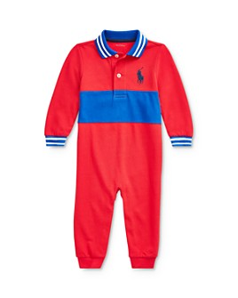 Ralph Lauren - Boys' Contrast-Stripe Polo Coverall - Baby