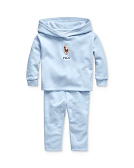 Ralph Lauren - Girls' Polo Hoodie & Pants Set - Baby