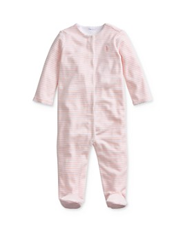 Ralph Lauren - Girls' Striped Velour Footie - Baby