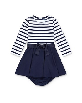 Ralph Lauren - Girls' Striped Fit-and-Flare Dress & Bloomers Set - Baby