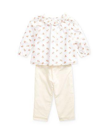 Ralph Lauren - Girls' Floral Print Top & Pants Set - Baby