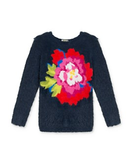 Kenzo - Girls' Fluffy Floral Sweater - Big Kid