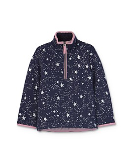 Joules - Girls' Galaxy Print Half-Zip Sweatshirt - Little Kid, Big Kid