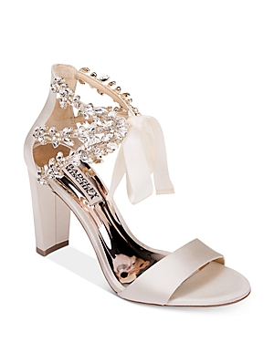 Badgley Mischka Sandals WOMEN'S EVERAFTER CRYSTAL-EMBELLISHED BLOCK HEEL SANDALS