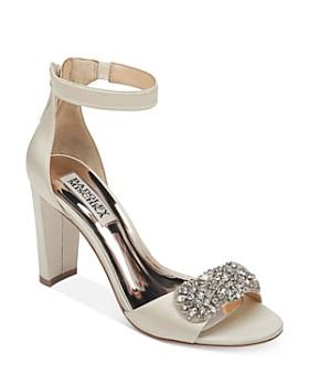 Badgley Mischka - Women's Edaline Crystal-Embellished Block Heel Sandals