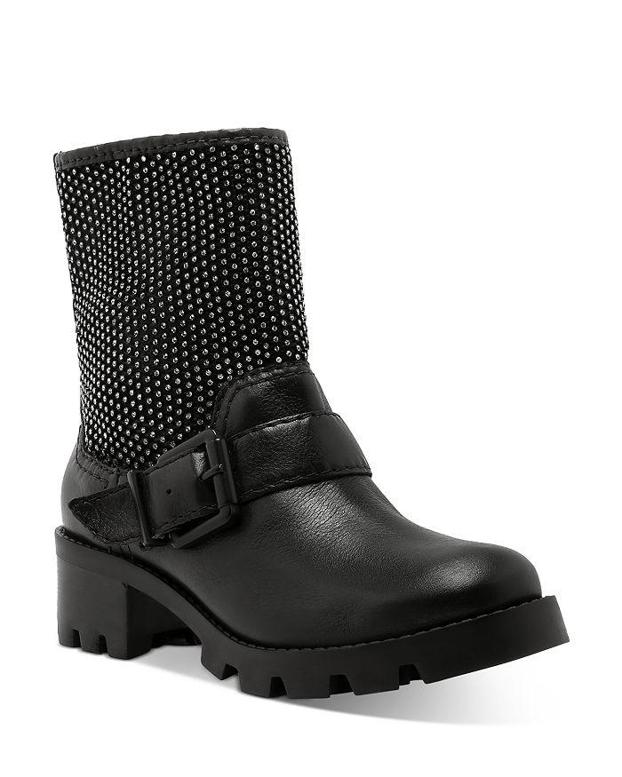 SCHUTZ - Women's Galena Studded Moto Boots