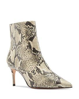 SCHUTZ - Women's Bette Snake-Embossed High-Heel Booties