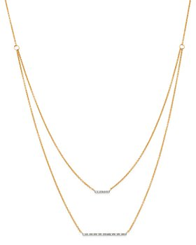 Moon & Meadow - Diamond Bar Station Layered Necklace in 14K Yellow Gold, 0.08 ct. t.w. - 100% Exclusive