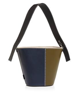 VASIC - Esta Bi Color Medium Leather Bucket Bag