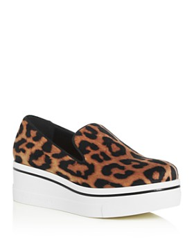 Stella McCartney - Women's Leopard-Print Platform Wedge Sneakers