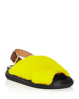Marni - Women's Fussbett Shearling Slingback Sandals