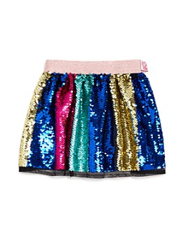 JOJO SIWA by BETSEY JOHNSON - Girls' Rainbow Sequin Skirt, Little Kid - 100% Exclusive