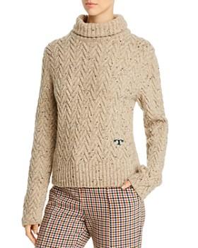 Tory Burch - Merino Wool Chunky Turtleneck Sweater