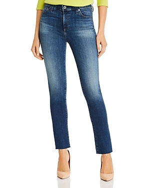Ag Mari High Rise Slim Straight Jeans in 12 Year Idiosyncratic-Women