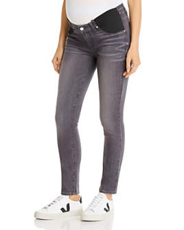 PAIGE - Verdugo Ultra Skinny Maternity Jeans in Gray Peaks