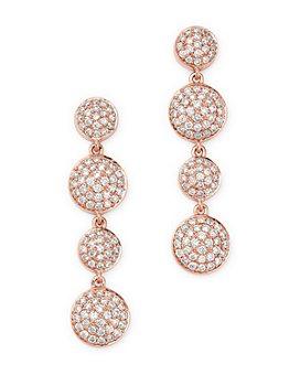 Bloomingdale's - Pavé Diamond Drop Earrings in 14K Rose Gold, 1.0 ct. t.w. - 100% Exclusive