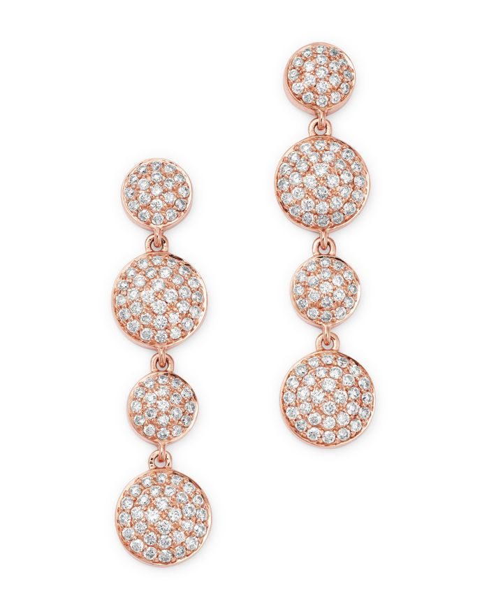 Bloomingdale's Pavé Diamond Drop Earrings in 14K Rose Gold, 1.0 ct. t.w. - 100% Exclusive  | Bloomingdale's