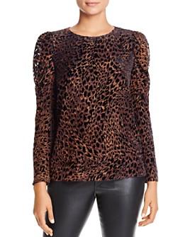 Elie Tahari - Noelle Leopard Puff-Sleeve Blouse