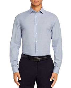 Armani - Micro-Dot Cotton Regular Fit Dress Shirt