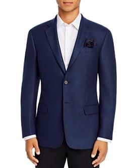Armani - Blue Stitched Regular Fit Blazer