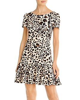 Betsey Johnson - Ruffled Leopard-Print Dress