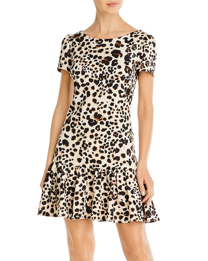 Betsey Johnson - Ruffled Leopard-Print Dress