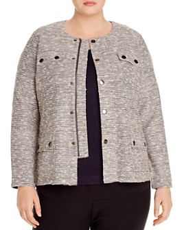 NIC and ZOE Plus - The Ritz Tweed Zip Jacket
