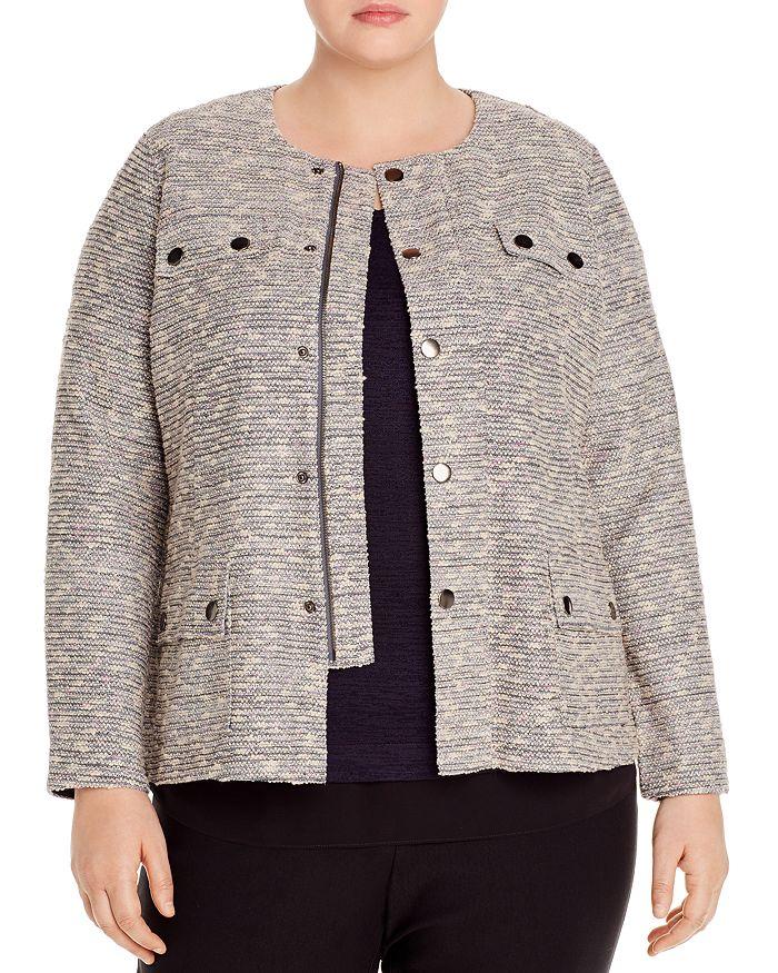 NIC and ZOE Plus - The Ritz Tweed Zip Jacket