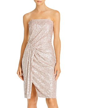 Black Halo - Domino Sequin Strapless Cocktail Dress