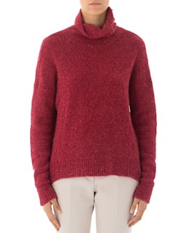 Peserico - Alpaca & Mohair-Blend Sherpa Turtleneck Sweater
