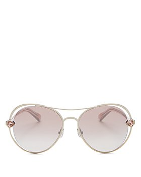 Jimmy Choo - Women's Sarah Brow Bar Aviator Sunglasses, 56mm