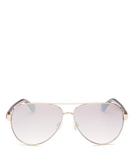 kate spade new york - Women's Geneva Brow Bar Aviator Sunglasses, 59mm