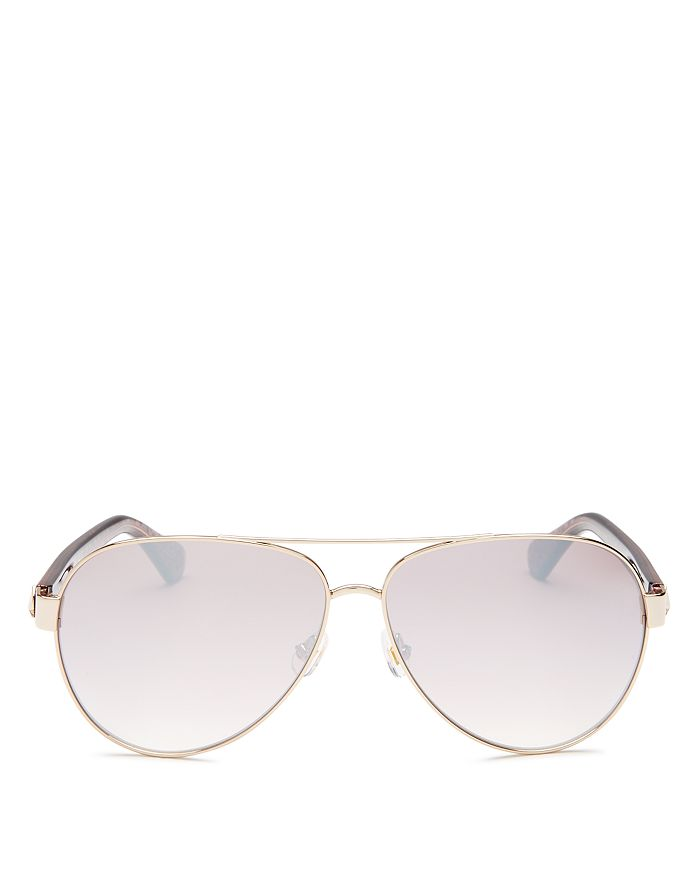 kate spade new york - Women's Geneva Brow Bar Aviator Sunglasses, 59mm