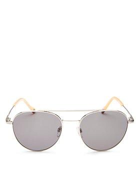 Le Specs Luxe - Men's Savage Brow Bar Aviator Sunglasses, 54mm