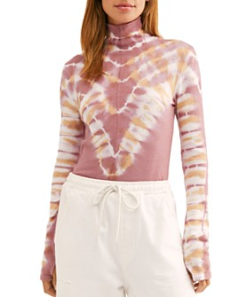 Free People - Psychedelic Tie-Dye Turtleneck Top