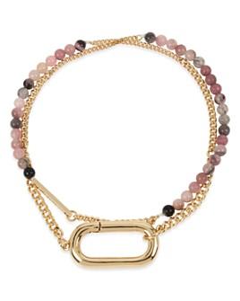 ALLSAINTS - Mixed Chain & Bead Double Wrap Bracelet
