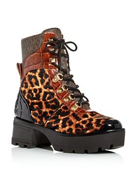 MICHAEL Michael Kors - Women's Khloe Calf Hair Combat Boots