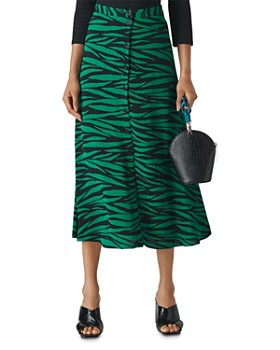 Whistles - Tiger Print Button Front Skirt