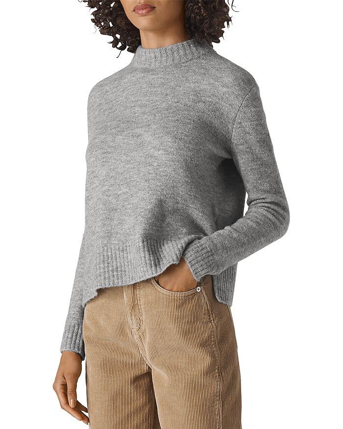 Whistles - Ribbed Trim Mock Neck Sweater
