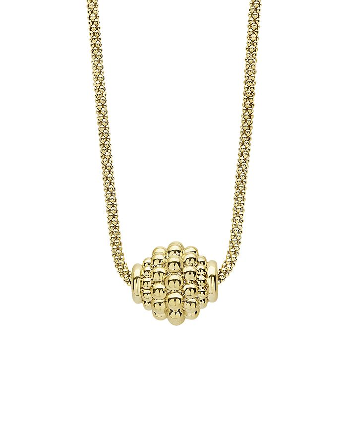 "LAGOS - 18K Yellow Gold Caviar Gold Caviar Ball Pendant Necklace, 16"""