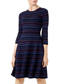 HOBBS LONDON - Katie Knit Fit-and-Flare Dress