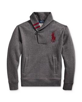 Ralph Lauren - Boys' Shawl-Collar Sweatshirt, Big Kid - 100% Exclusive