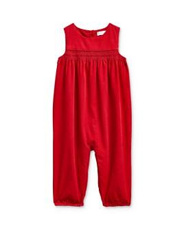 Ralph Lauren - Girls' Smocked Corduroy Romper - Baby