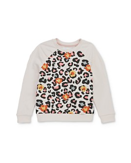 Mini Series - Girls' Valeria Leopard Print Sweatshirt, Little Kid - 100% Exclusive