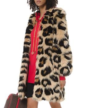 MICHAEL Michael Kors - Oversized Leopard-Print Faux-Fur Coat