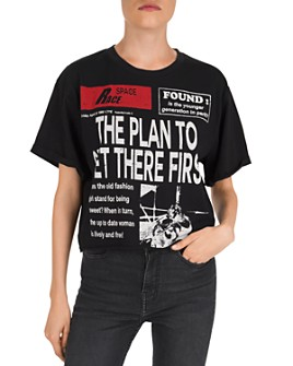 The Kooples - The Plan To Get There First Newspaper-Inspired Graphic Tee