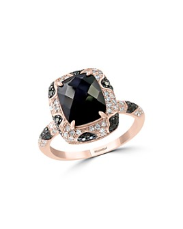 Bloomingdale's - Black Onyx and Black & White Diamond Ring in 14K Rose Gold - 100% Exclusive